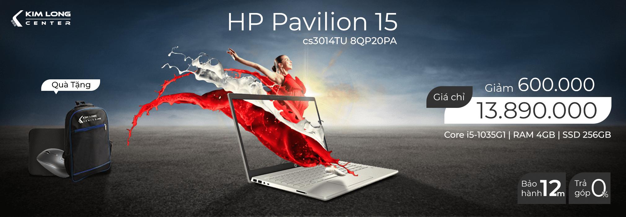 HP Pavilion 15- cs3014TU 8QP20PA