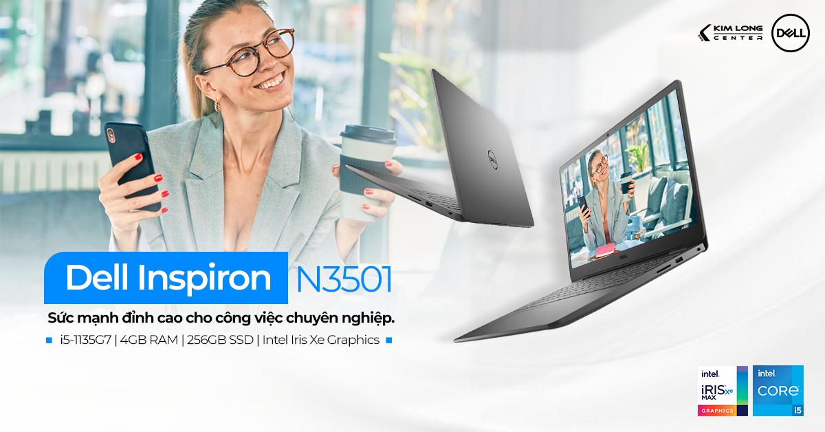 Inspiron N3501 sở hữu chip Intel thế hệ 11 mới nhất