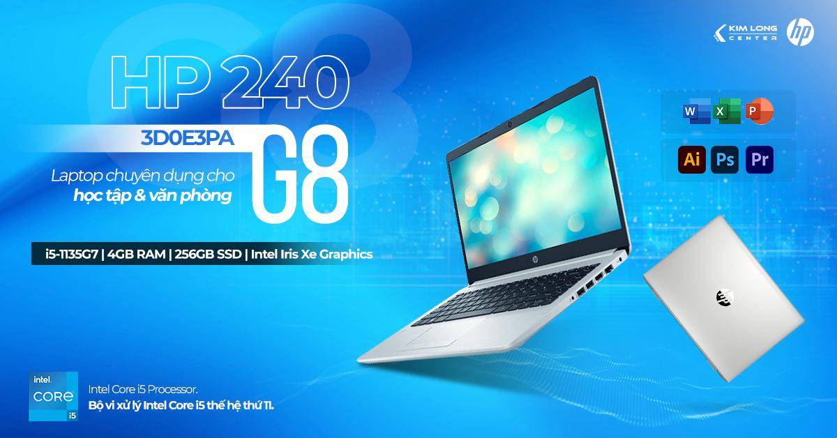 Laptop HP 240 G8 3D0E3PA - i5 thế hệ 11