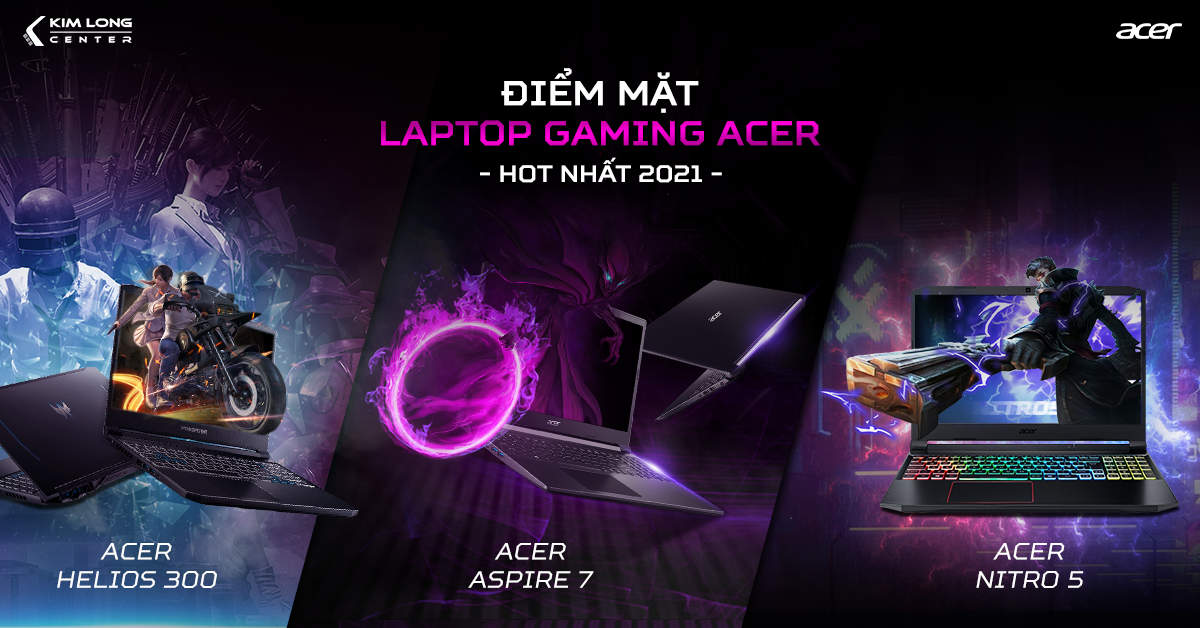 Điểm Mặt Top 3 Laptop Acer Gaming Hot Nhất 2020