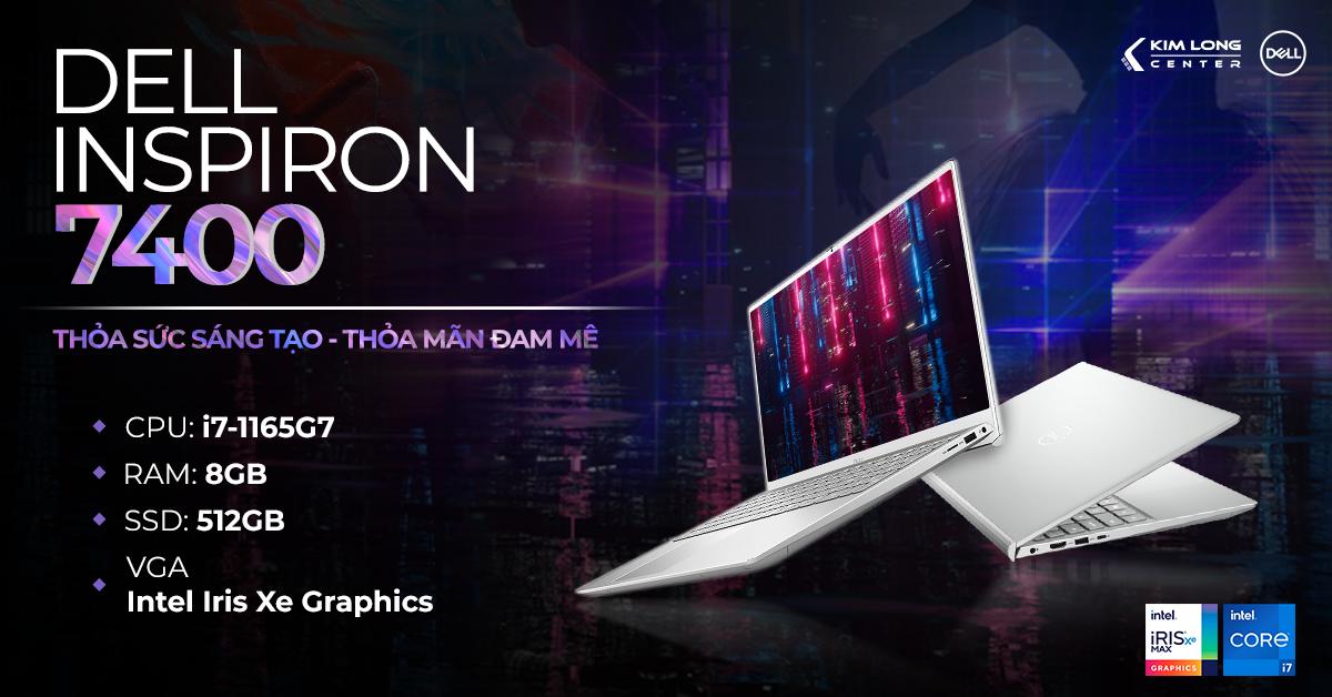 Dell Inspiron 7400 là mẫu laptop vô cùng mỏng nhẹ