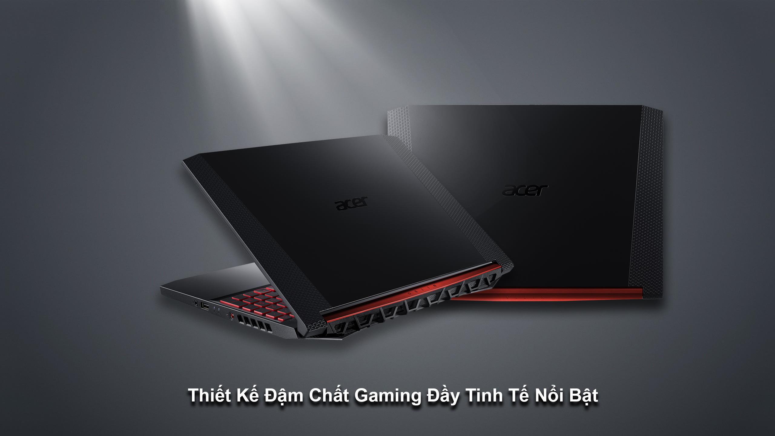 Acer Nitro 5 sở hữu thiết kế mạnh mẽ