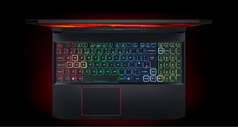 Acer Nitro 5 AN515-55-5923 sở hữu bàn phím rgb 4 vùng
