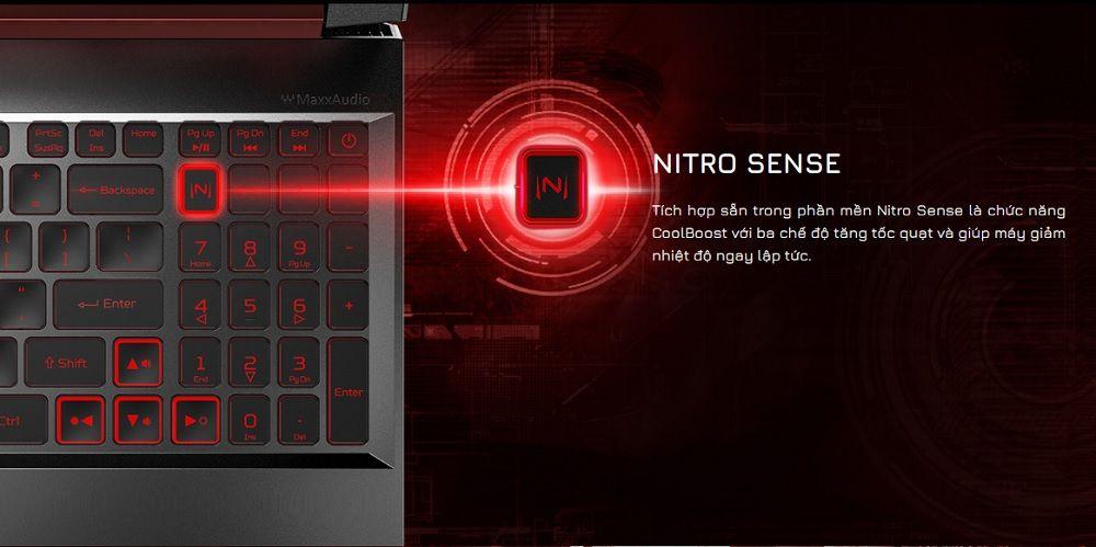 Phím tắt Nitro Sense tiện lợi