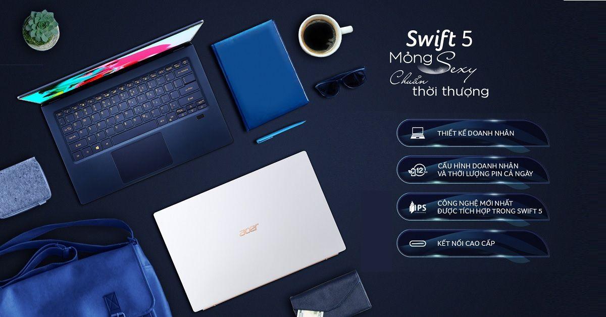 thiết kế máy Acer Swift 5 SF514-54T-793C (NX.HLGSV.001)
