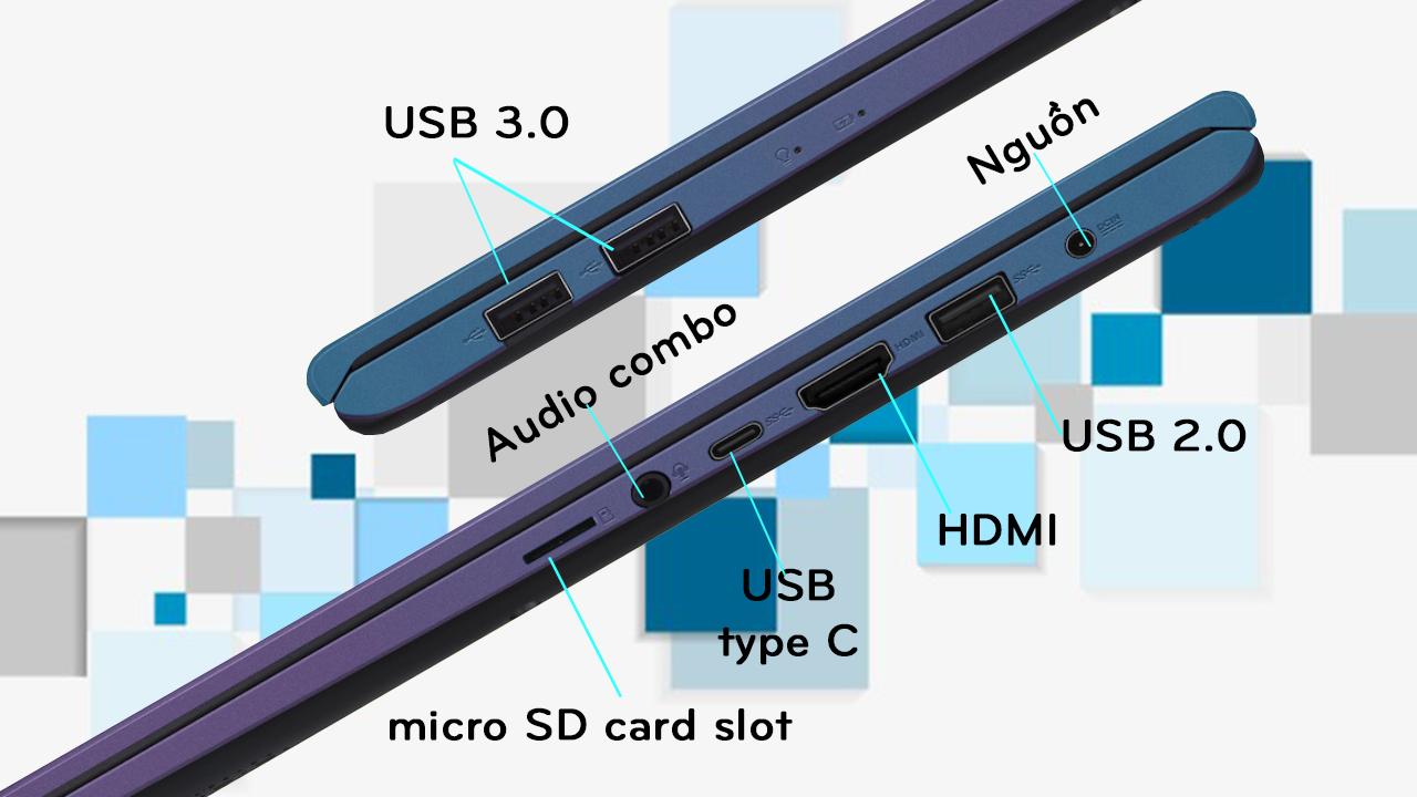 cổng kết nối Asus Vivobook A512F-EJ099T