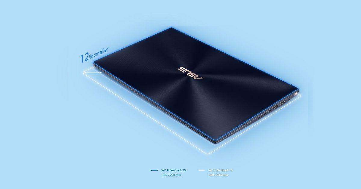 Thiết kế của Zenbook 15 2019 gọn gàng hơn so với tiền nhiệm 2017