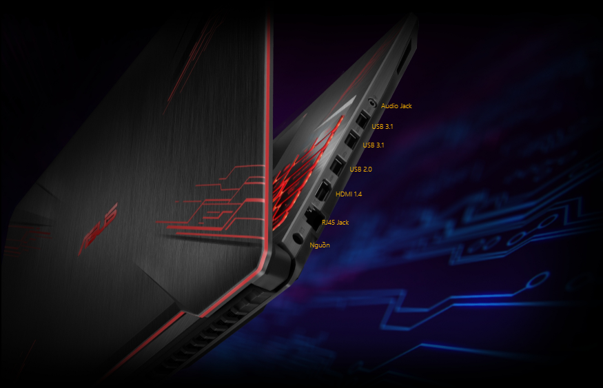 Asus TUF Gaming FX504GE-E4059T kết nối