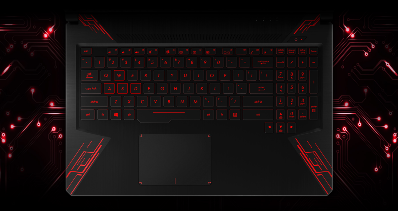 Asus TUF Gaming FX504GE-E4059T bàn phím
