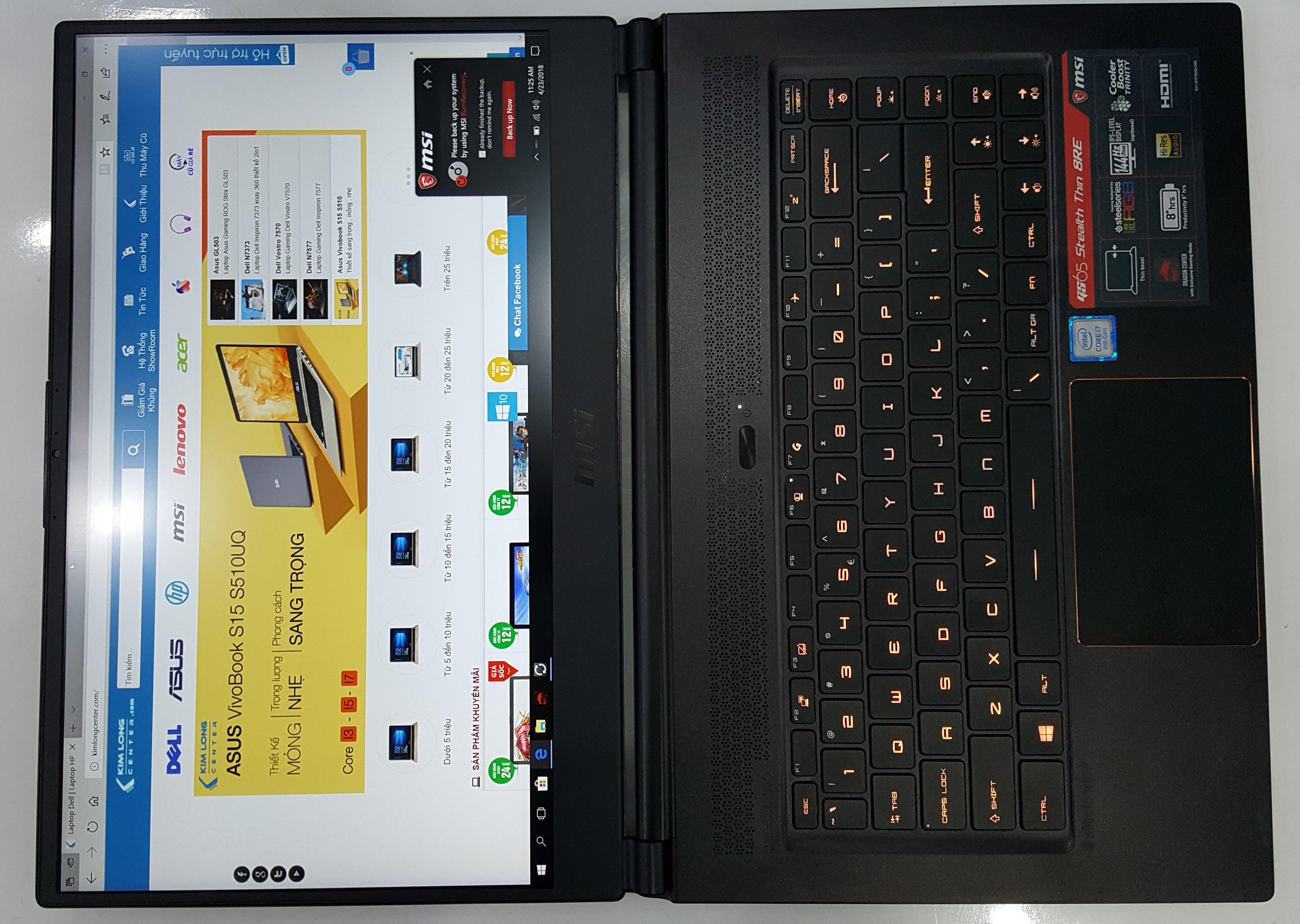 màn hình msi gs65