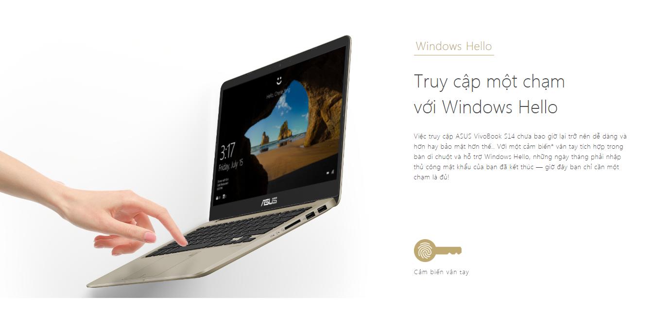 Asus Vivobook S14 S410UA-EB218T windows hello