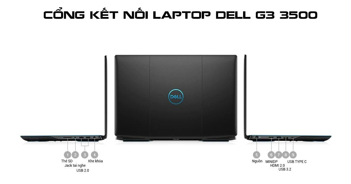 Cổng kết nối dell g3 3500