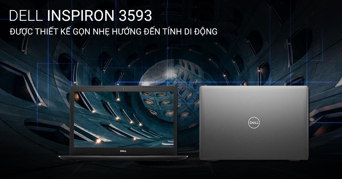 Thiết kế DELL INSPIRON 3593A sang trọng với tính di động cao
