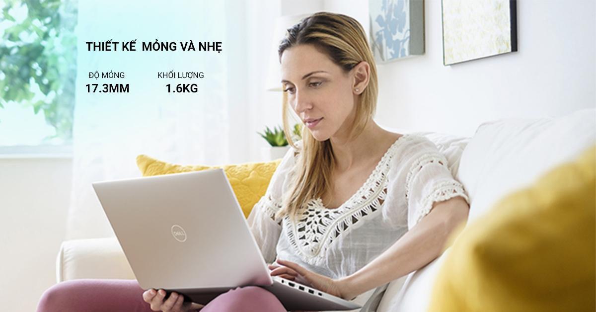 laptop dell inspiron 5490 với thiết kế hiện đại với tính di động cao