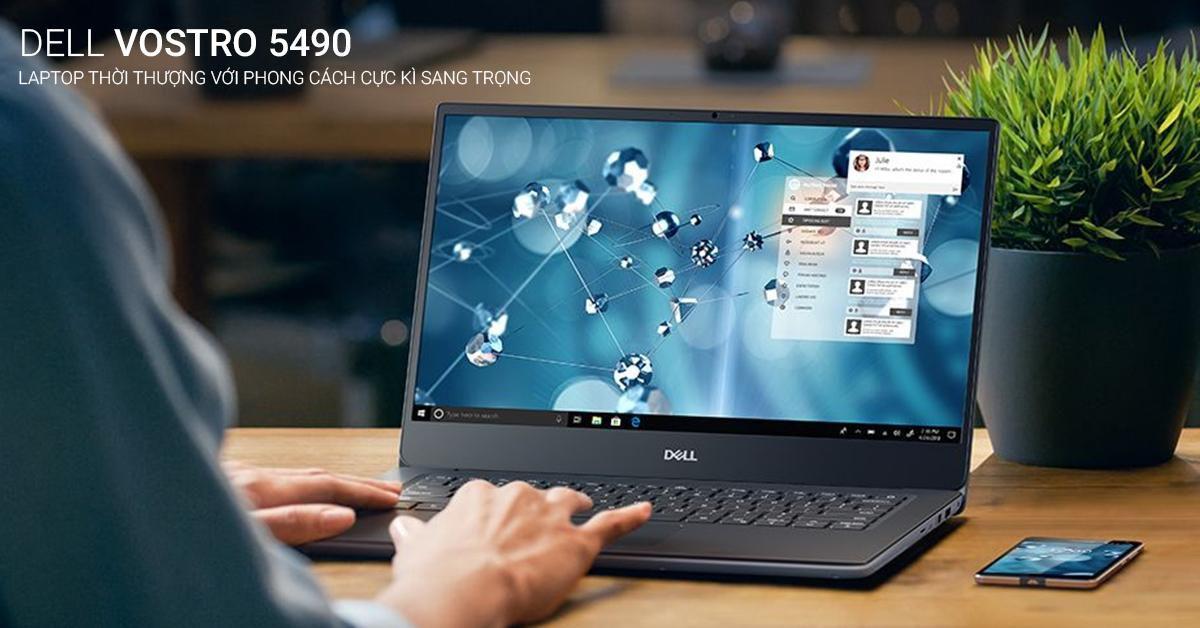 dell vostro 5490 70197464 sở hữu thời lượng pin tốt đồng thời kết hợp công nghệ sạc nhanh