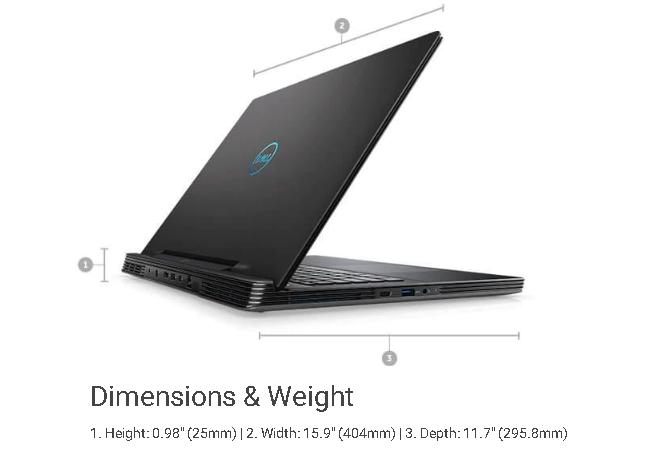 Kích thước Dell G7