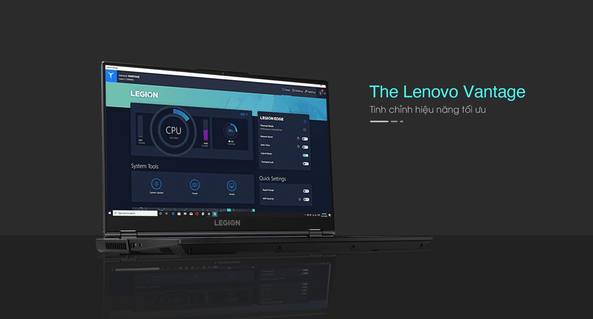 Lenovo Legion 5 15IMH05: Hiệu năng chơi game tối ưu cùng Lenovo Vantage