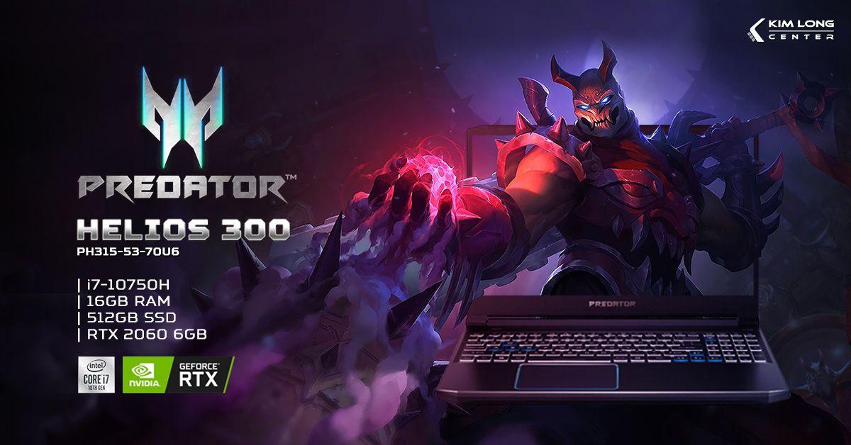 Laptop Acer Predator Helios 300 PH315-53-70U6
