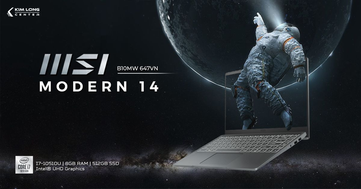 laptop-MSI Modern 14 B10MW 647VN