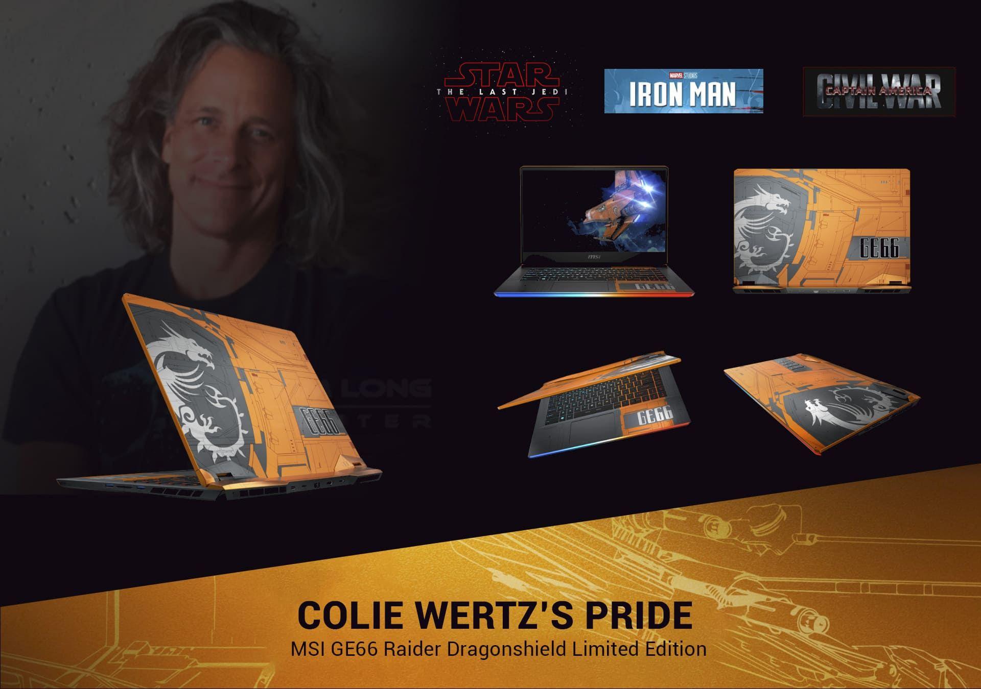 Bậc thầy tạo hình điện ảnh Colie Wertz tự hào về MSI GE66 Raider 10SF-285