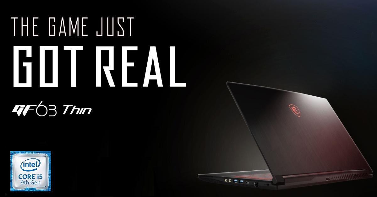 Laptop MSI GF63 THIN 10SCSR-076VN