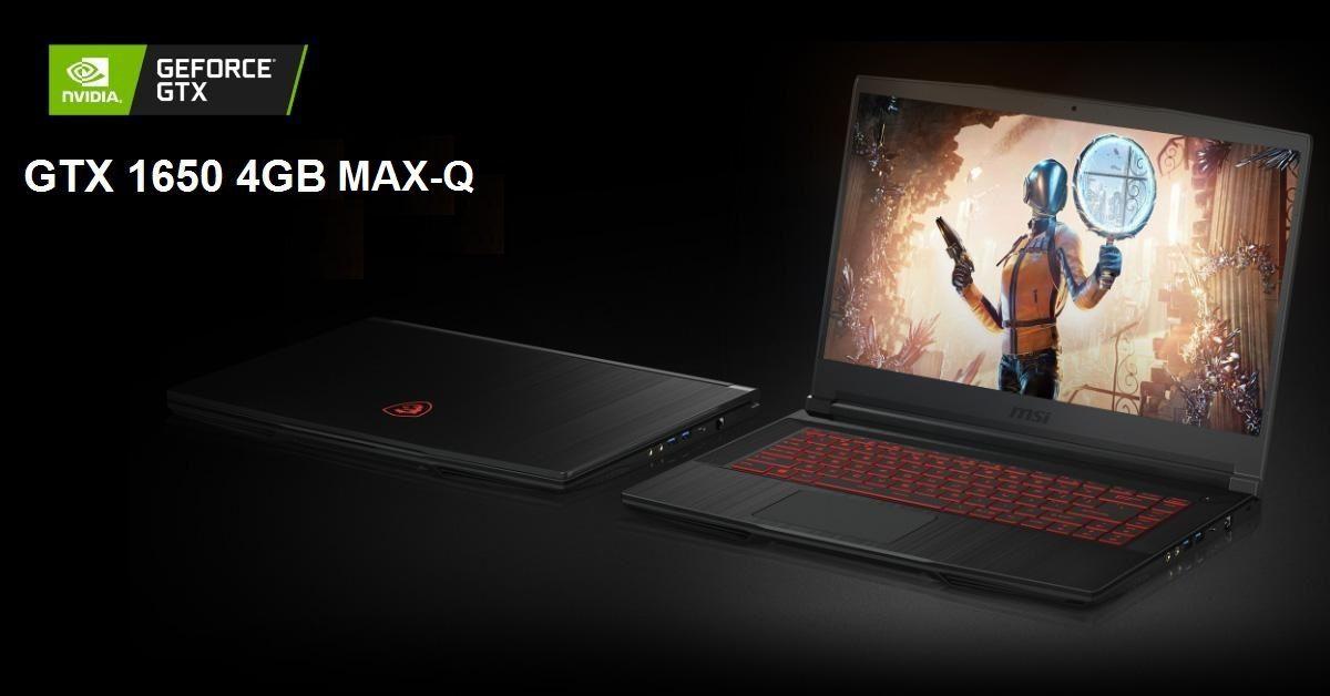 Card rời GTX 1650 Max-Qsẽ mang lại hiệusuất đồ họa cao cho các tựa game