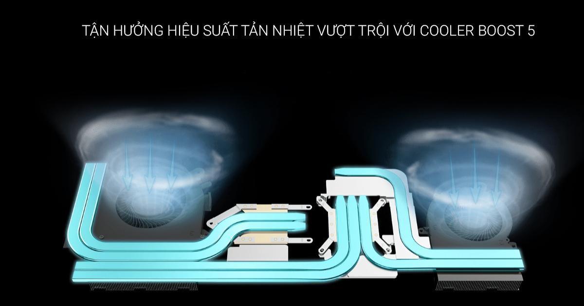 tản nhiệt vượt trội với Cooler Boost 5