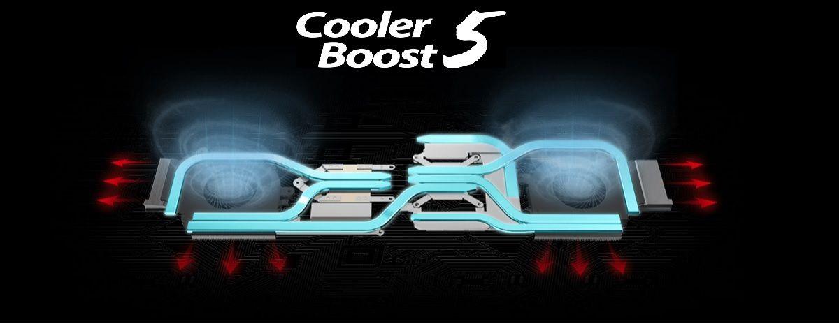 Công nghệ Cooler Boost 5 tản nhiệt vượt trội