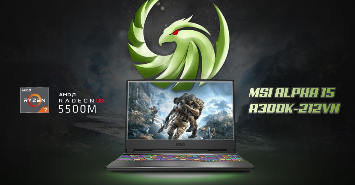 Laptop msi alpha 15 a3ddk-212vn