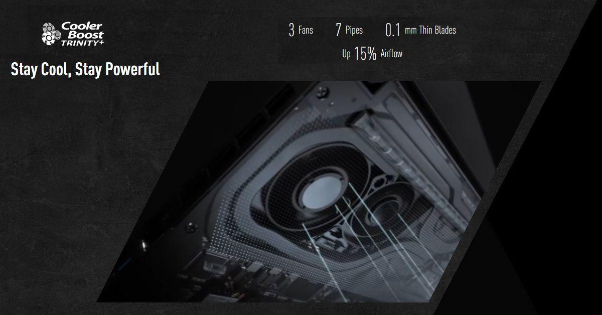 Công nghệ tản nhiệt Cool Boost Trinity + độc quyền trên msi gs66 stealth 10se-213vn