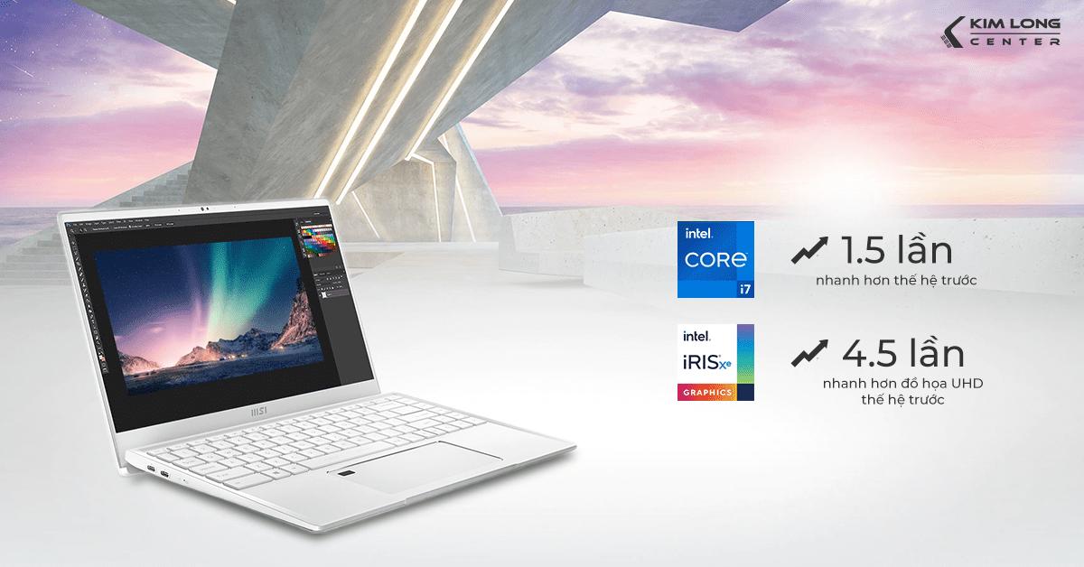 Hiệu năng kết hợp giữa CPU Intel thế hệ 11 và GPU tích hợp Intel Iris Xe