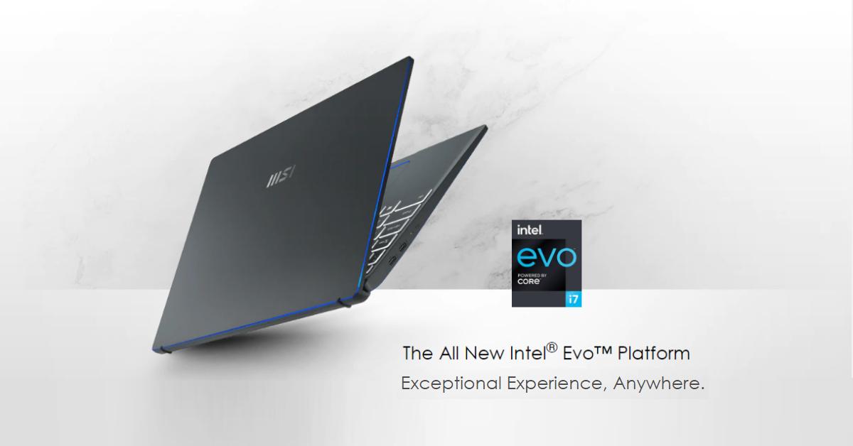 Chứng nhận Intel ® Evo ™ hoàn toàn mới