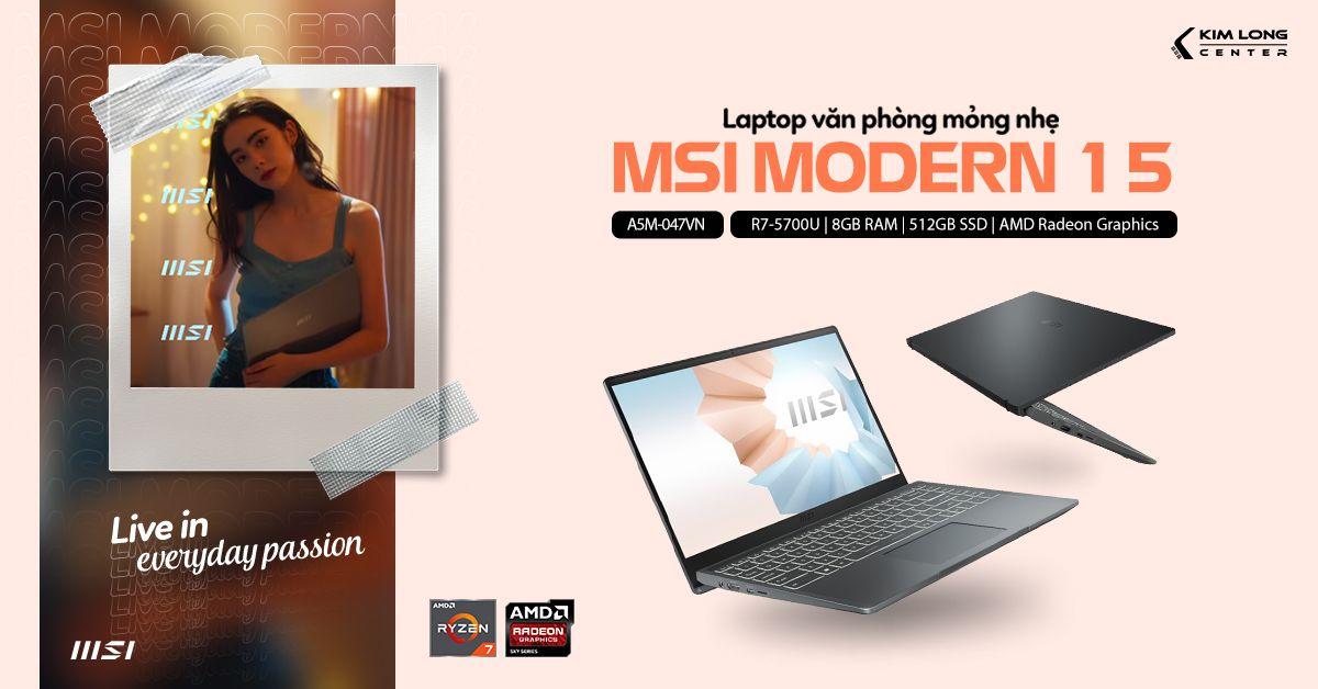 laptop-MSI Modern 15 A5M-047VN