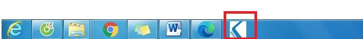 Thành quả sau khi pin web xuống taskbar