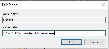 sửa giá trị file Userinit