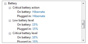 thiết lập báo pin yếu cho laptop win 10
