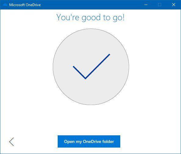 Nhấn Nexi cho đến khi kết thúc việc giới thiệu về OneDrive