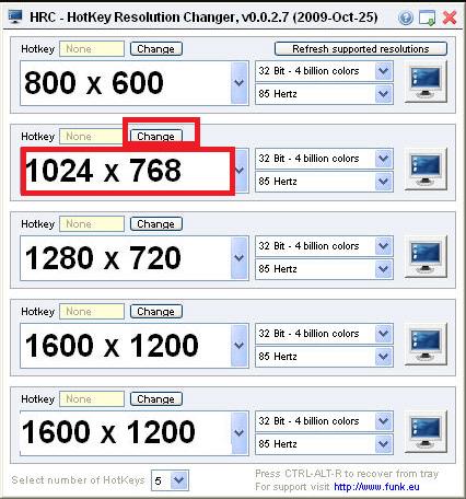 Chọn độ phân giải màn hình