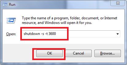Gõ lệnh hẹn giờ tắt máy tính Win 10 trong hộp thoại RUN