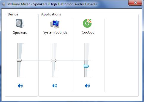 Điều chỉnh tăng giảm âm thanh cho từng ứng dụng