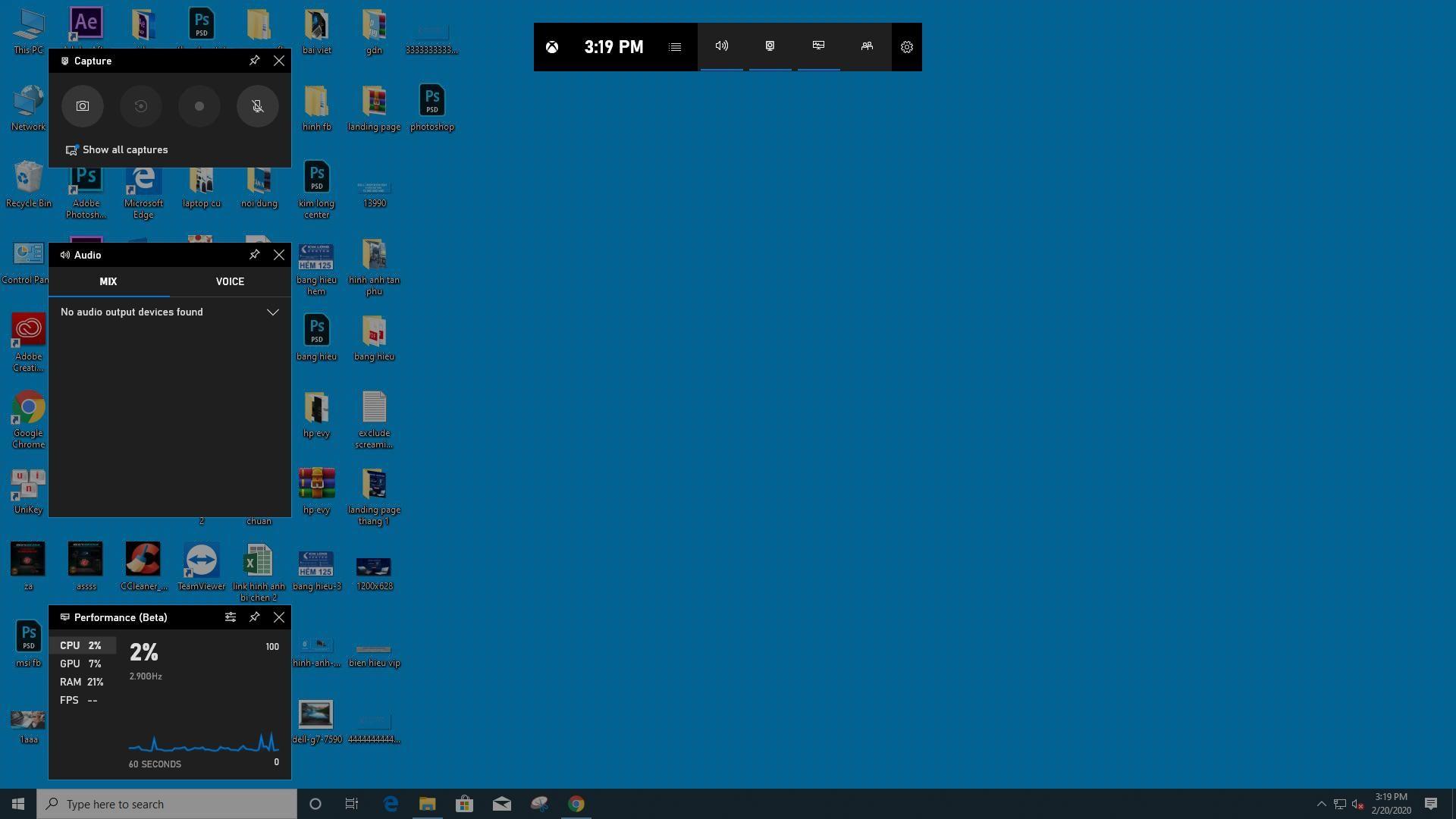 Game Bar on Windows 10