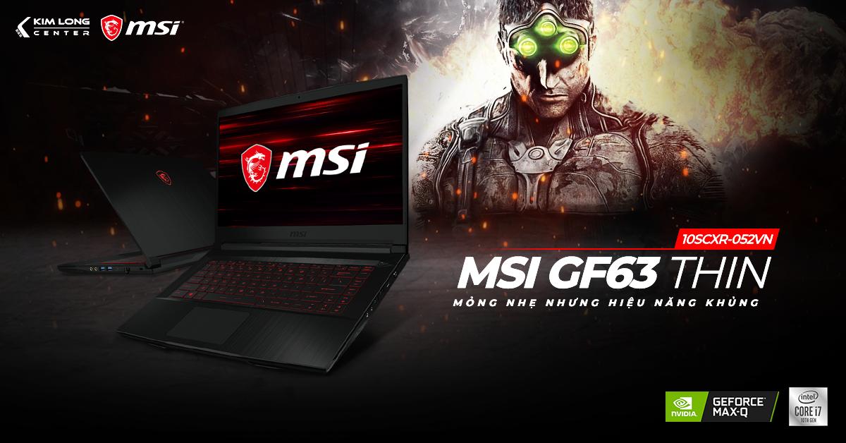 MSI GF63 THIN 10SCXR - GTX 1650 Max-Q