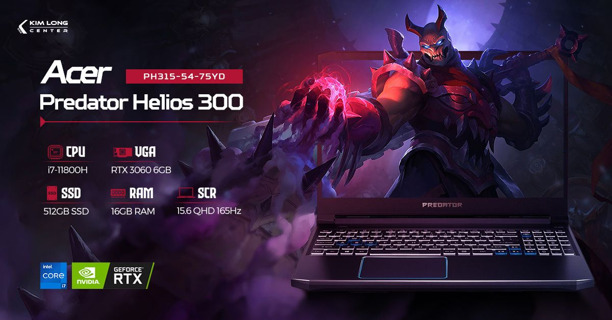 laptop-Acer Predator Helios 300 PH315-54-75YD