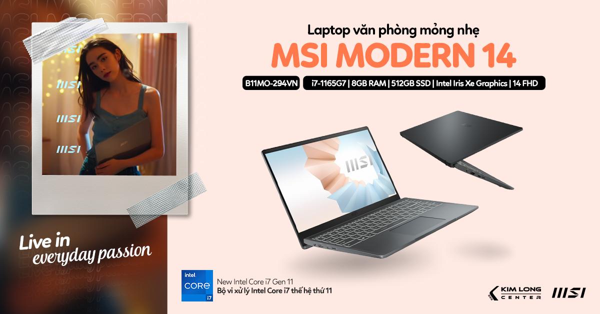 laptop-MSI Modern 14 B11MO-294VN