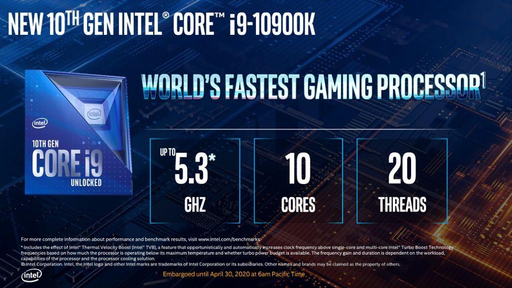 CPU I9-10900K 10 nhân/20 luồng