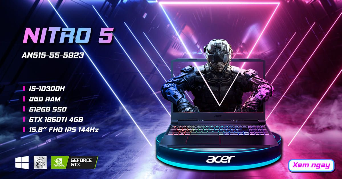 Laptop gaming Acer Nitro 5 AN515-55-5923