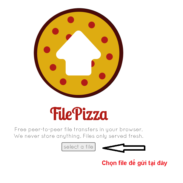 giao diện File Pizza