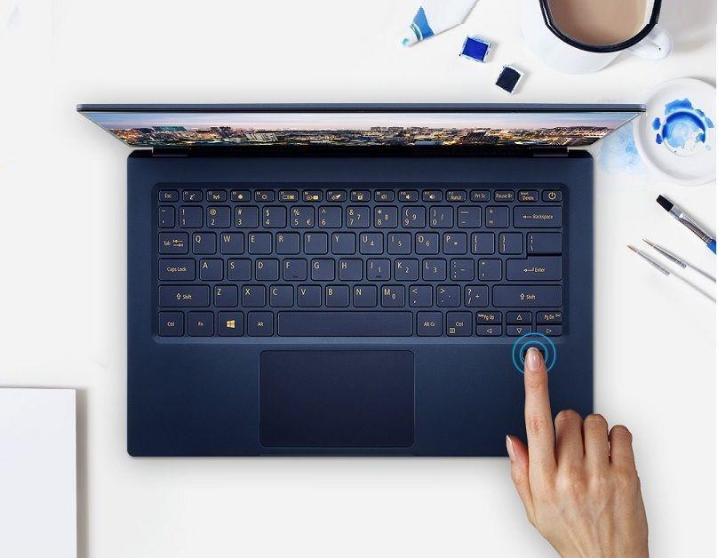 Đầu đọc dấu vân tay trên Acer Swift 5