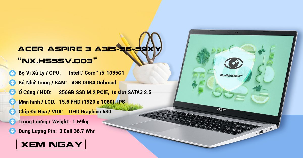 Acer Aspire 3 A315-56-59XY