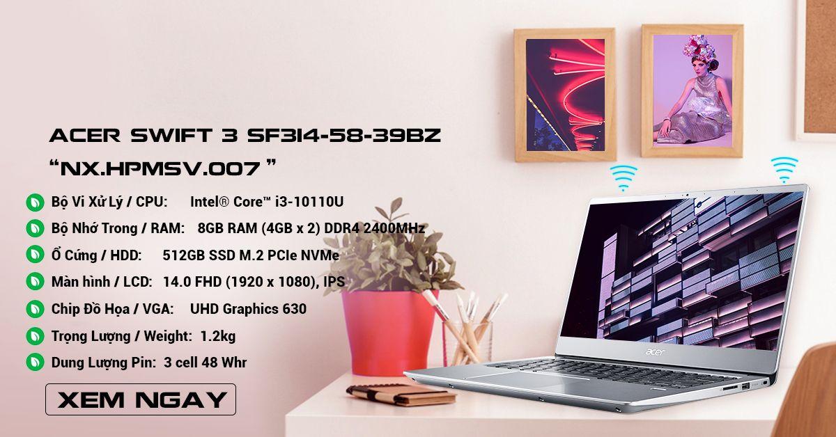 Acer Swift 3 SF314-58-39BZ (NX.HPMSV.007)